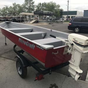 MirroCraft 4604, 1985 9.9HP Johnson, and Trailer